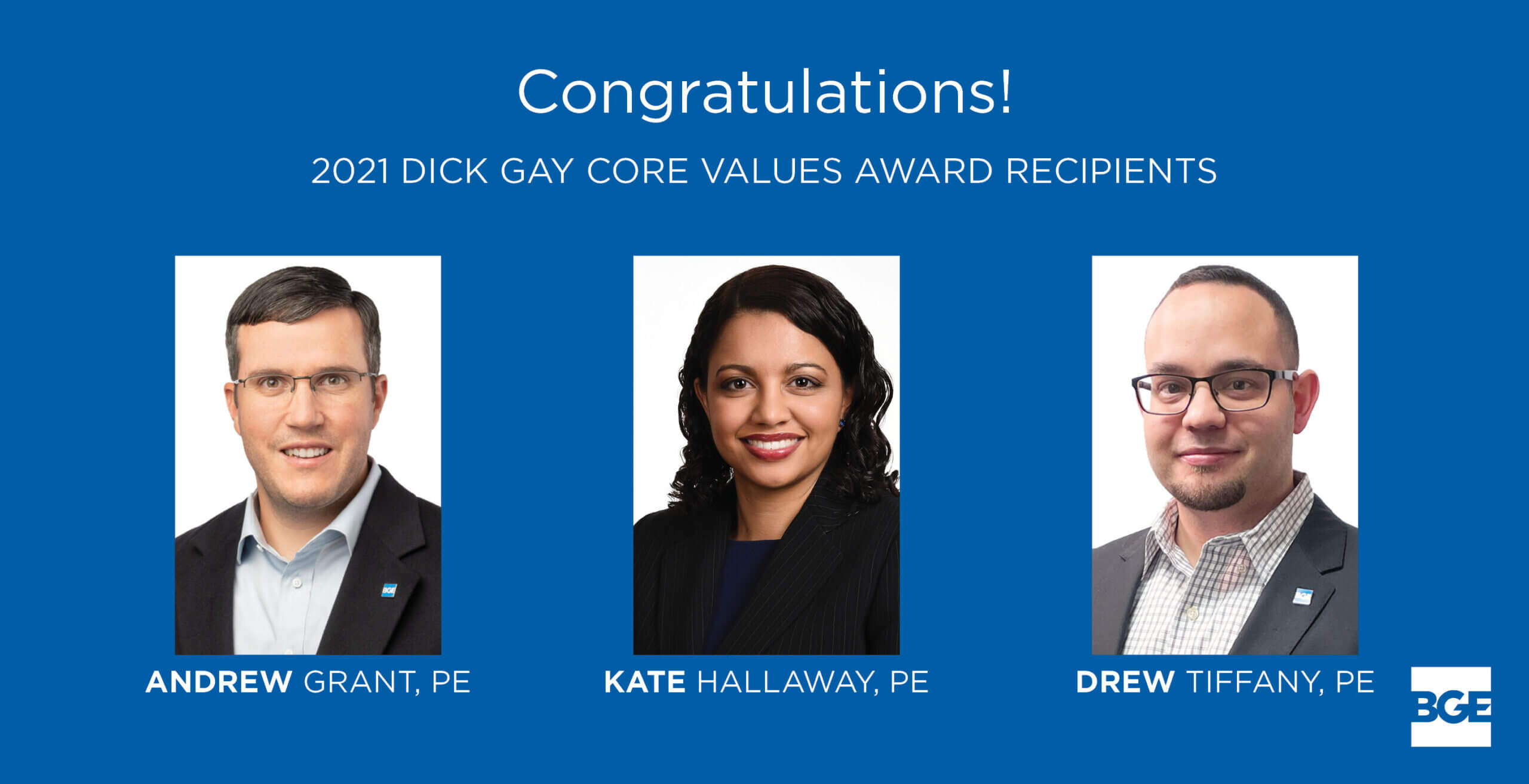 BGE Announces 2021 Dick Gay Core Values Award Recipients
