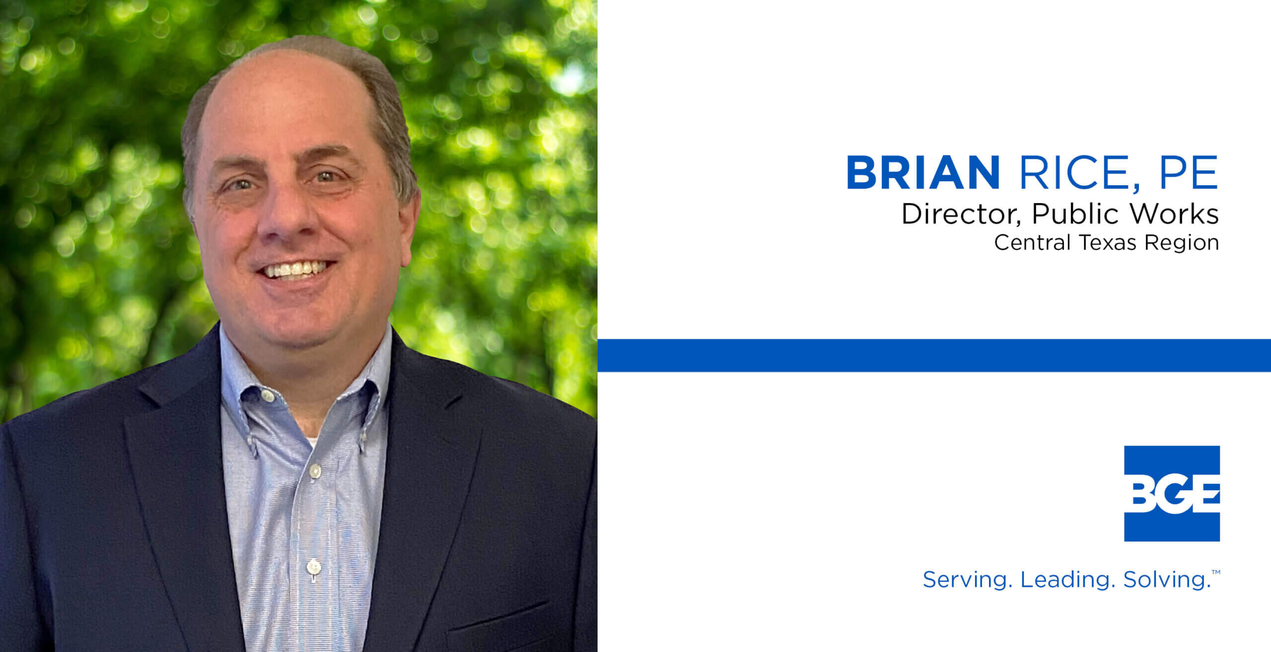 BGE Welcomes Brian Rice to Leadership Team in Central Texas Region