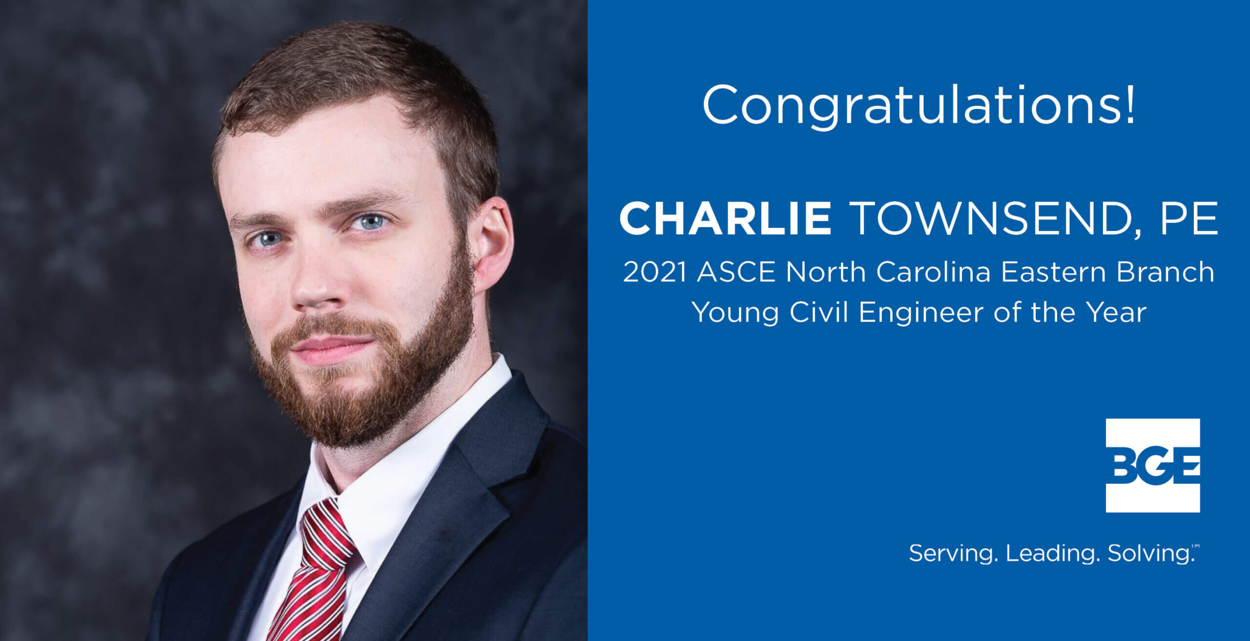 BGE Project Manager Named Young Civil Engineer of the Year By ASCE NC Eastern Branch