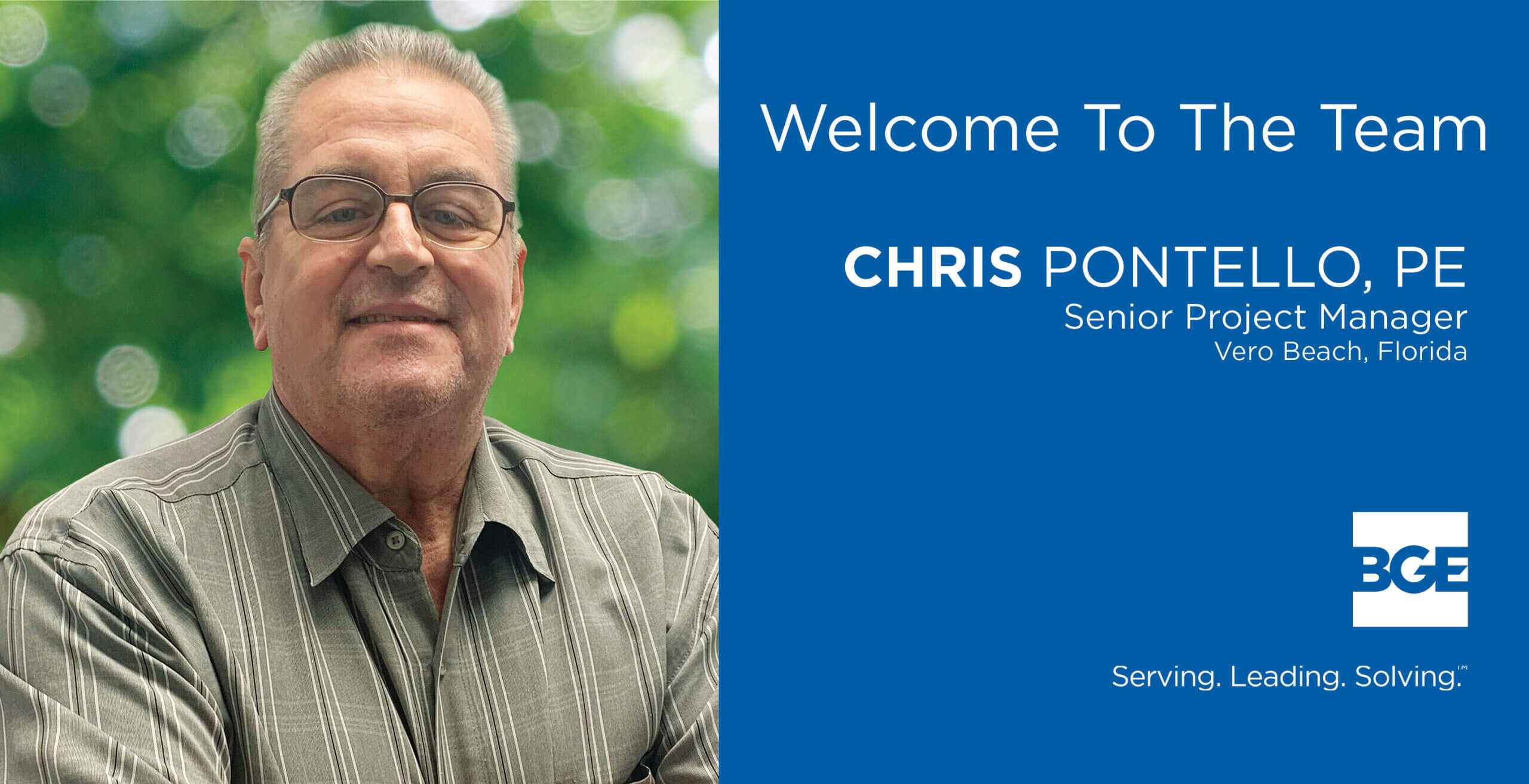 BGE Welcomes Chris Pontello to Its Vero Beach Office