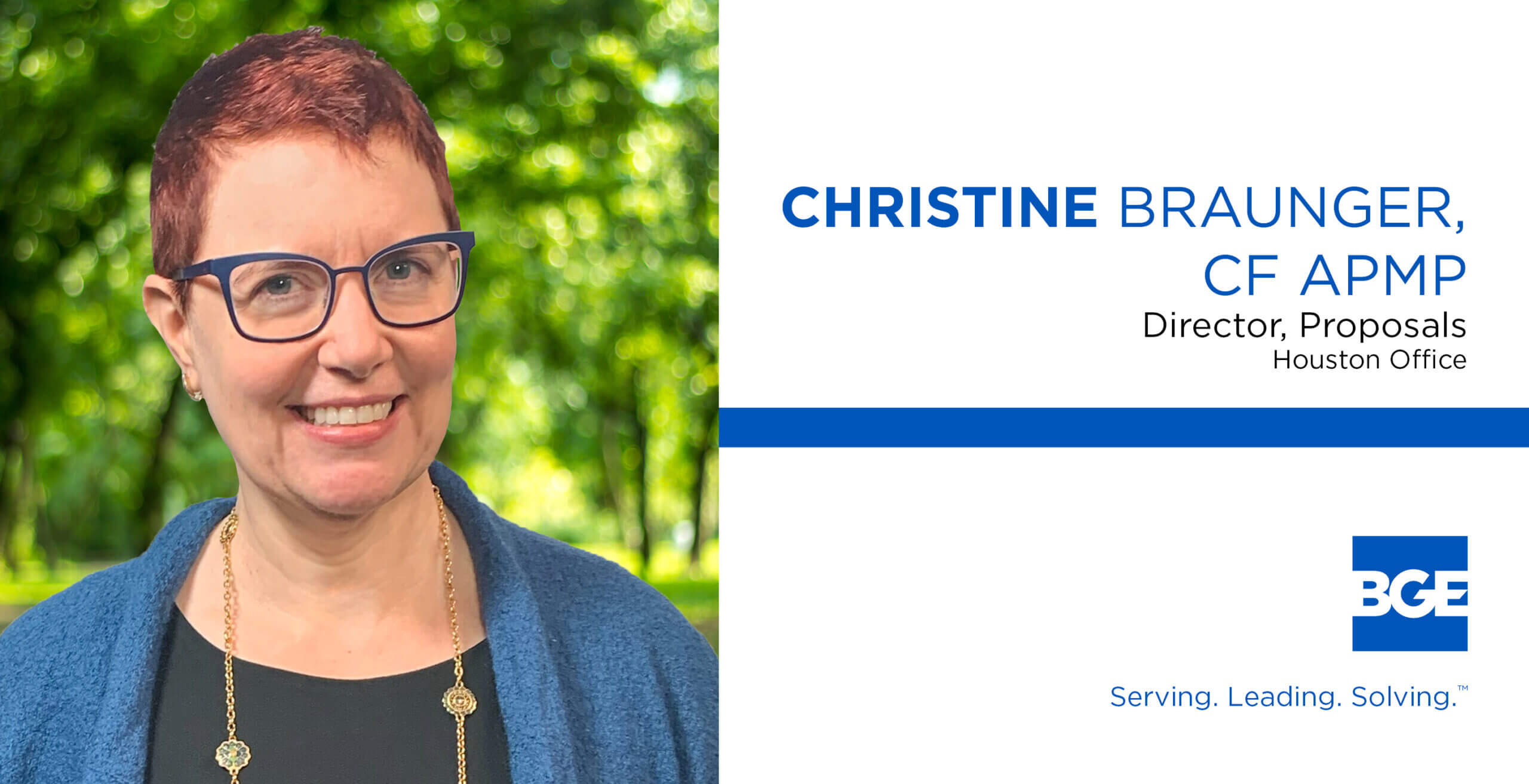 Christine Braunger Joins BGE as Director of Proposals
