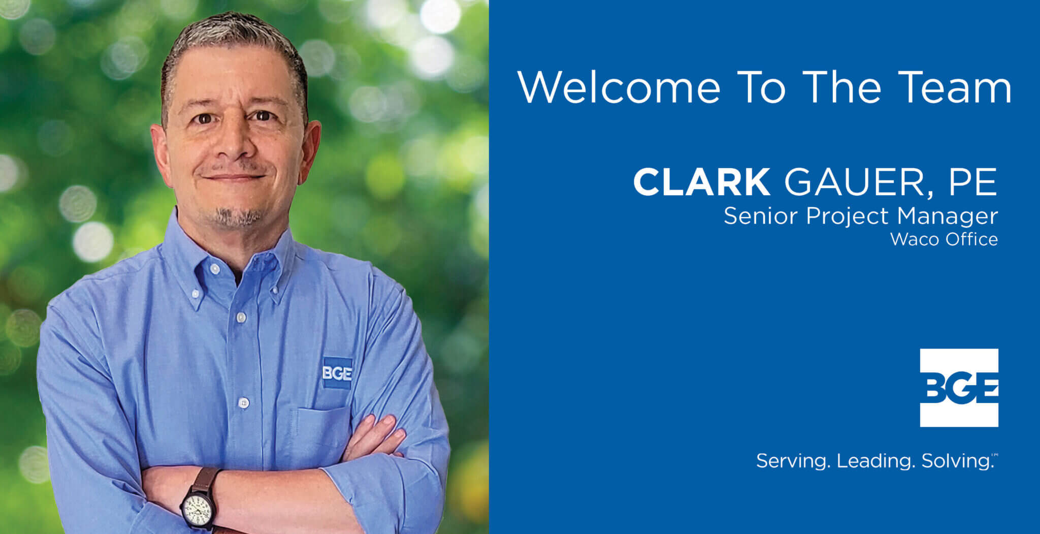 BGE Welcomes Clark Gauer as Senior Project Manager