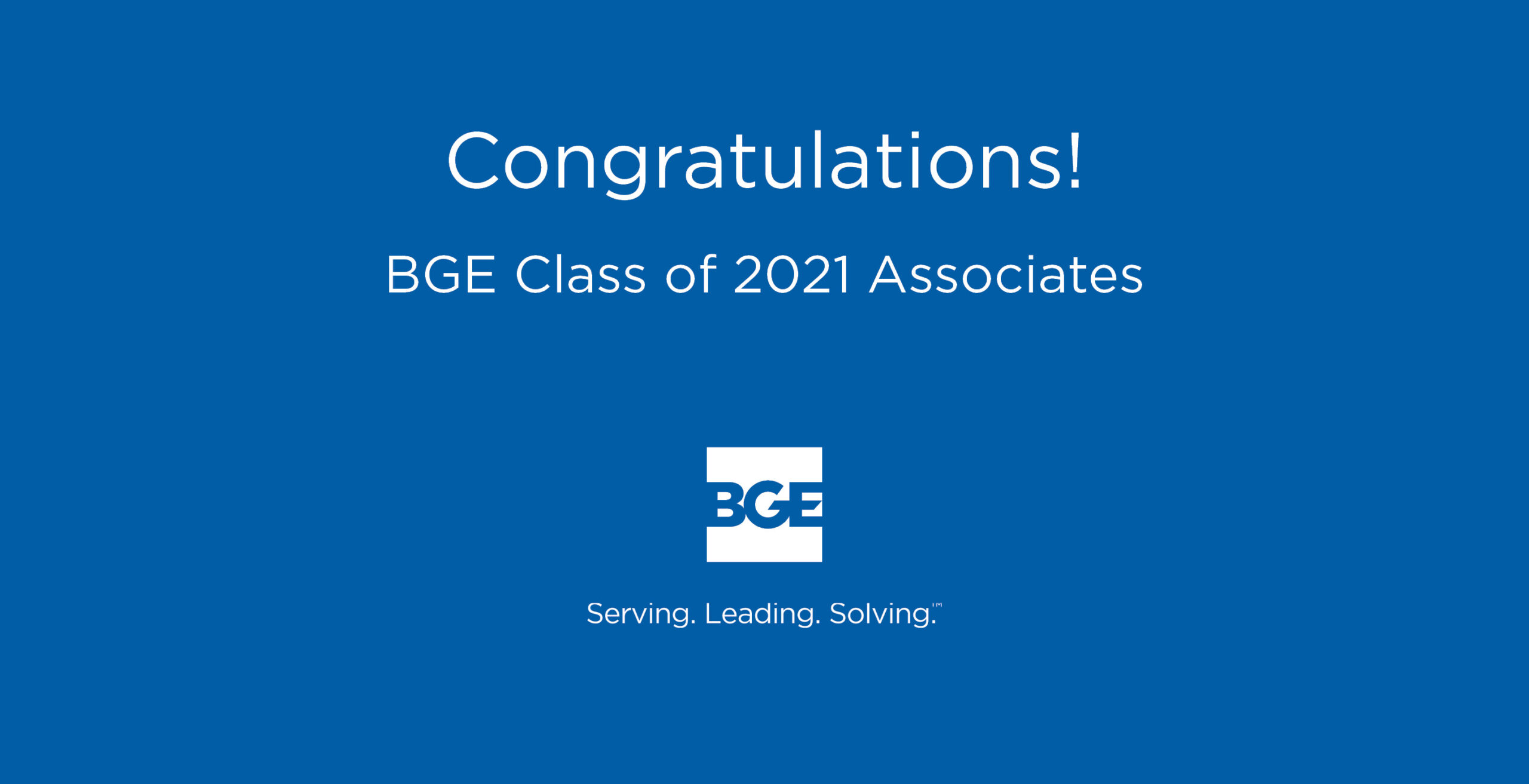 BGE Announces 2021 Class of Associates