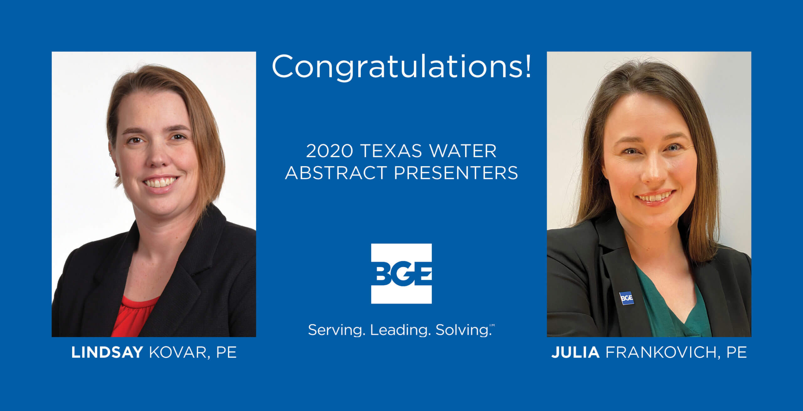 BGE Engineers to Present at Upcoming 2020 Texas Water Conference