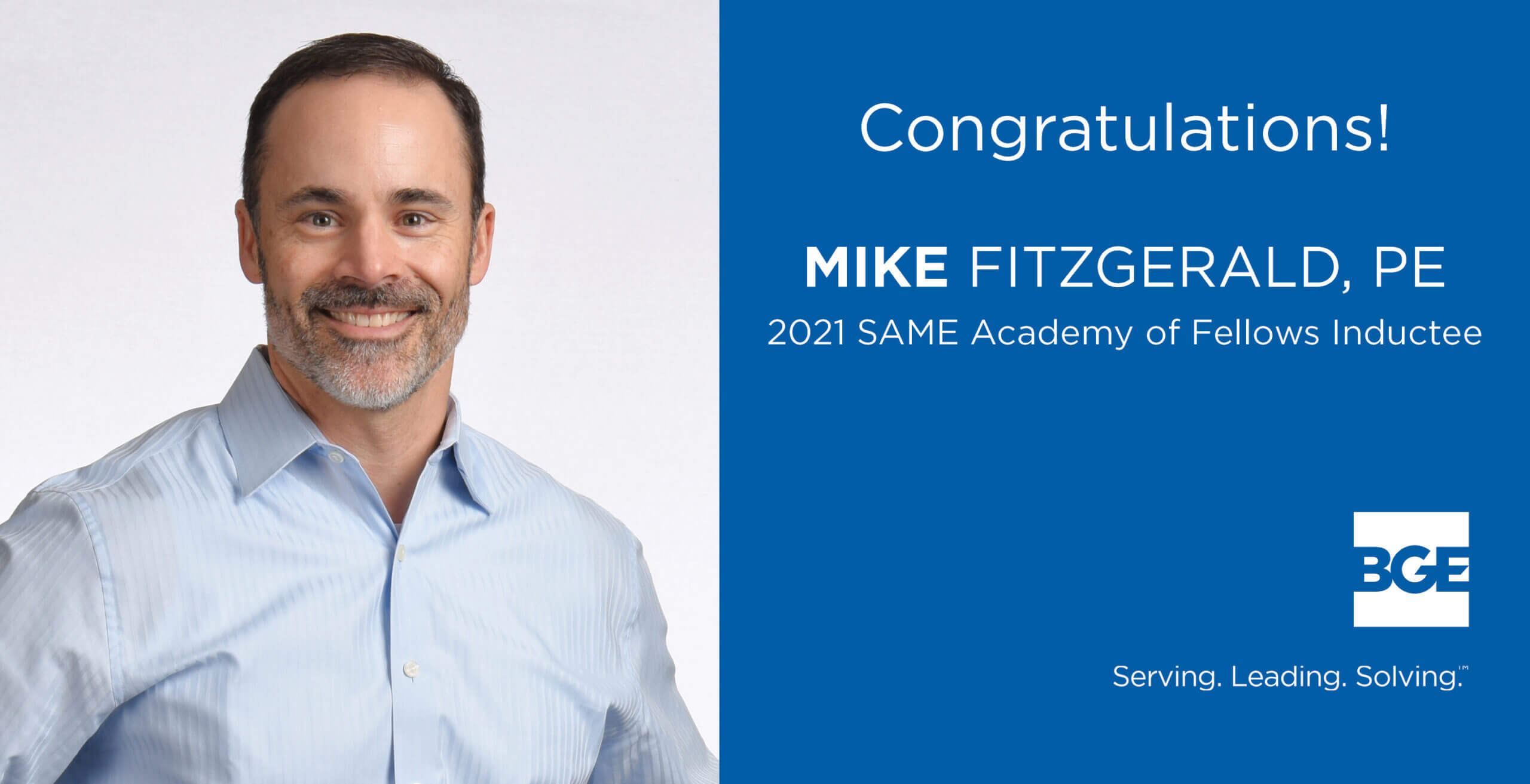 Mike Fitzgerald Named Fellow by the Society of American Military Engineers