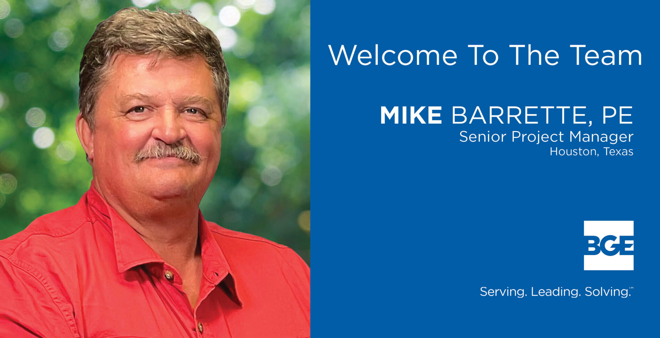 BGE Welcomes Mike Barrette as Senior Project Manager