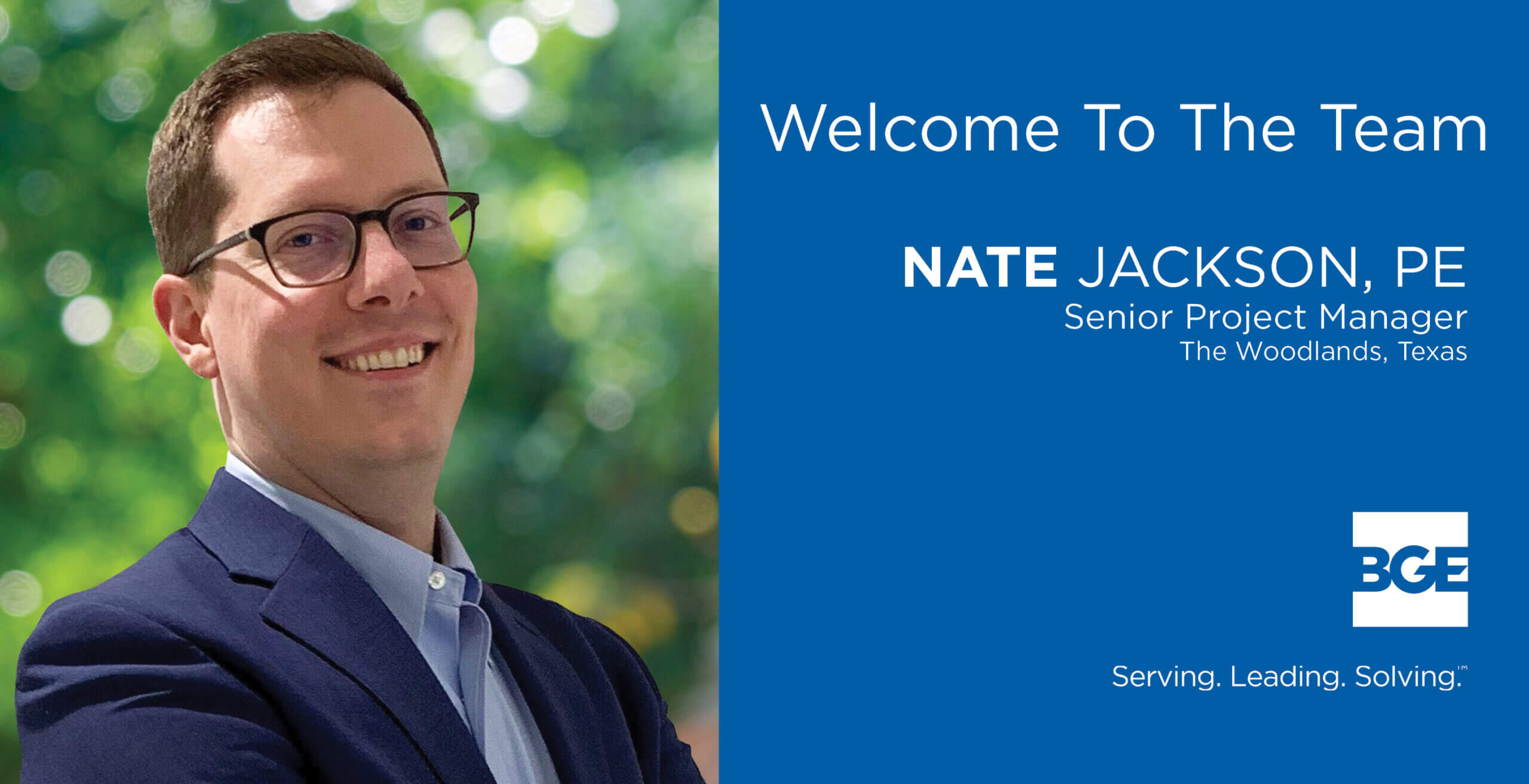 BGE Welcomes Nate Jackson As Senior Project Manager in The Woodlands Office