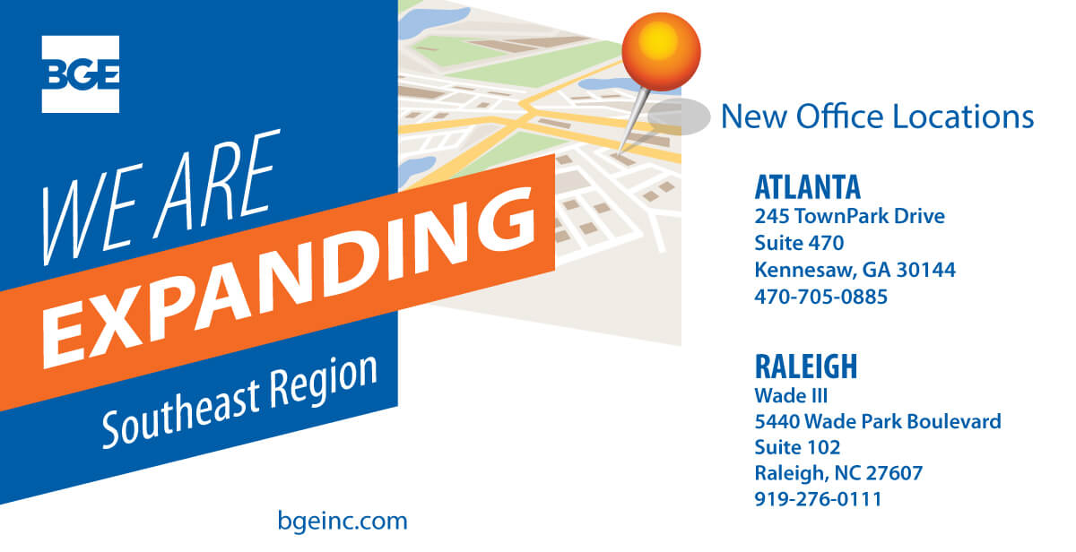 BGE Adds Offices in Atlanta and Raleigh