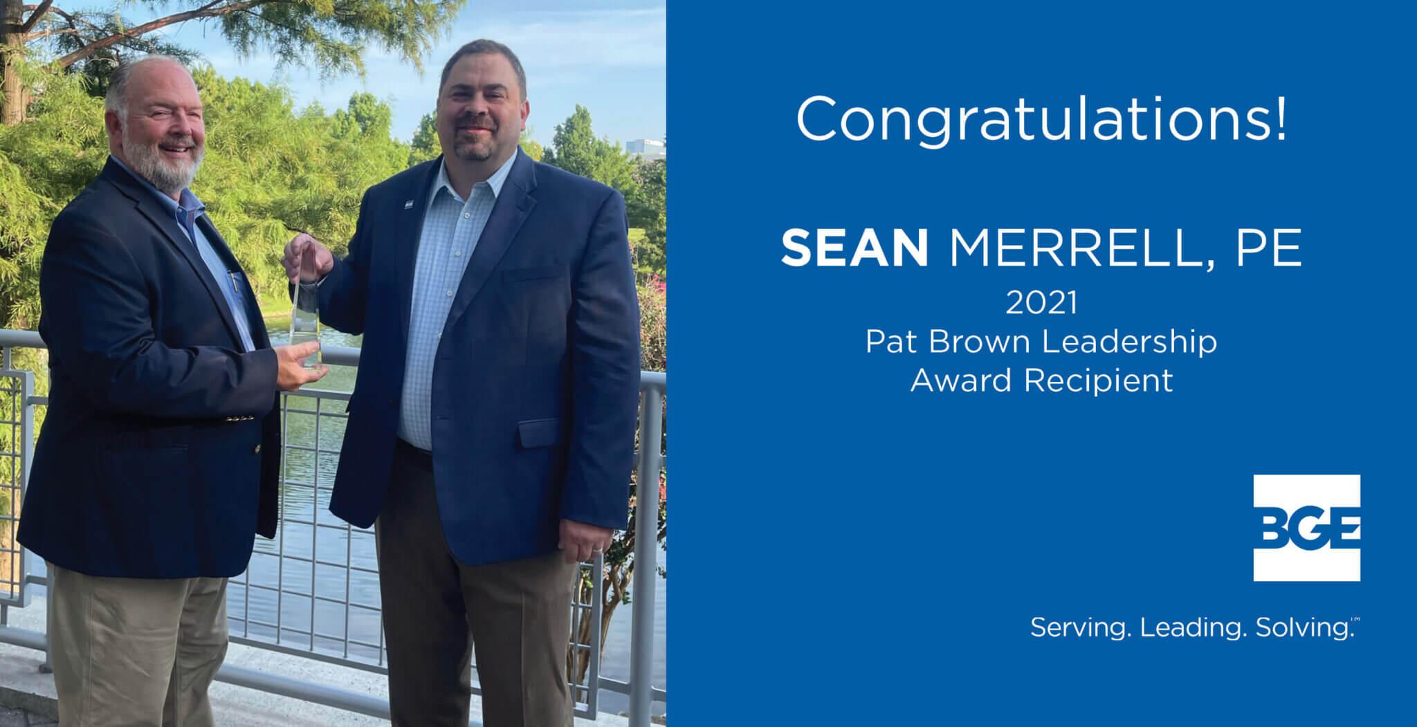 Merrell Honored with 2021 Pat Brown Leadership Award