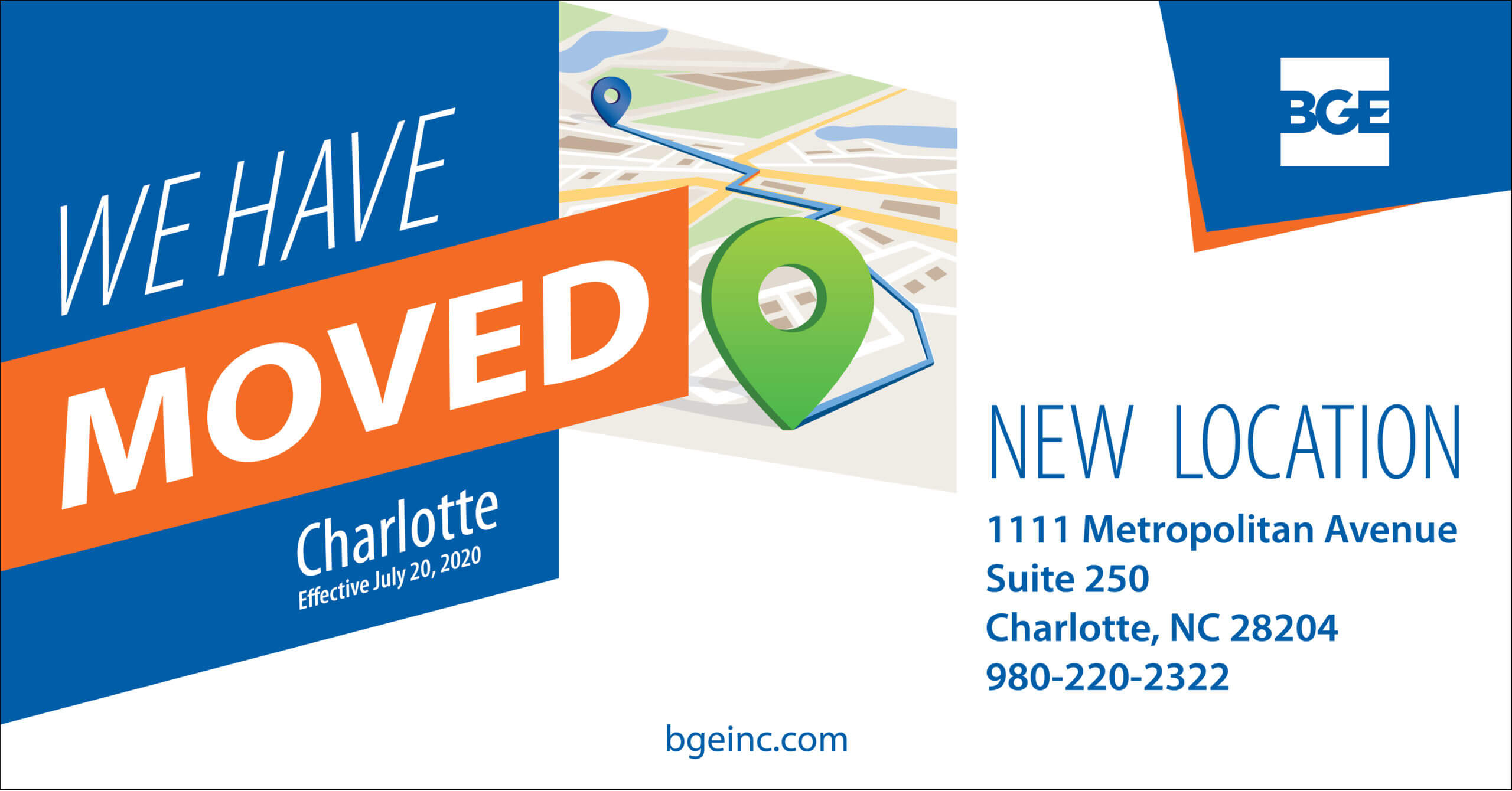 BGE's Charlotte Office Relocates