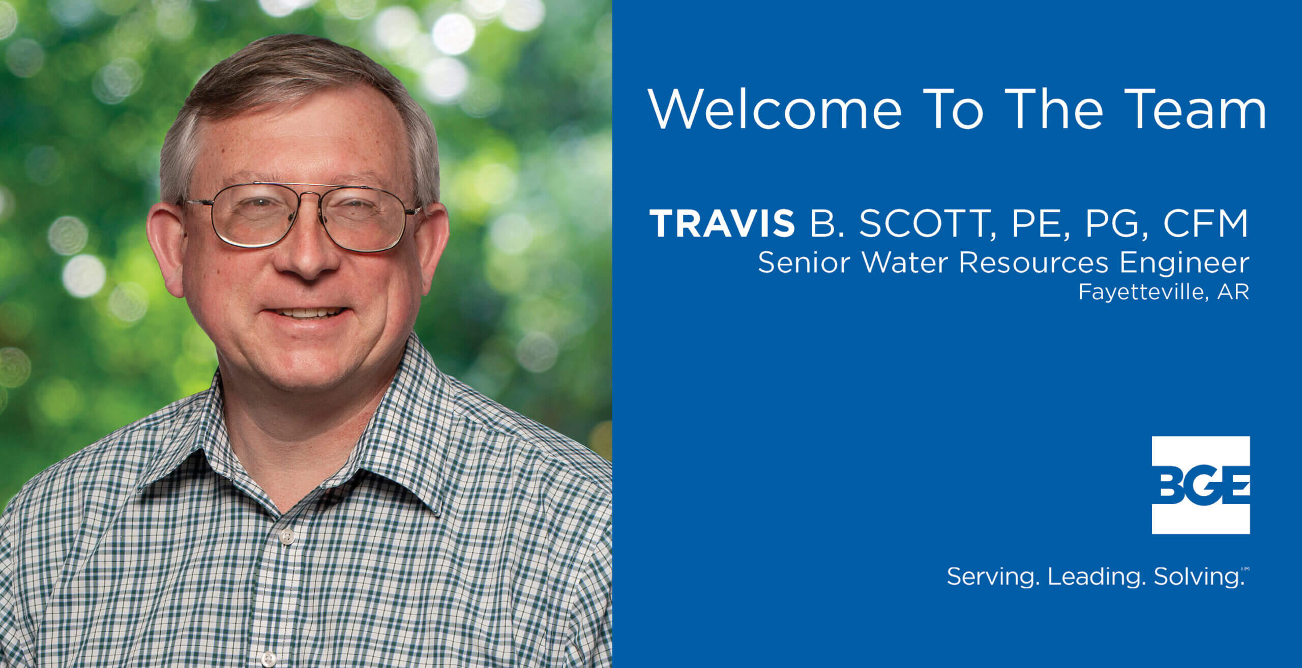 BGE Welcomes Travis Scott as Senior Water Resources Engineer